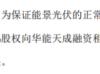 宝莫股份子公司向华能天成提供股权质押担保 出质股权1.17亿元