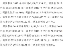 并行科技信披违规收警示函:2018年净利润由亏损2994万元调至亏损5007万元