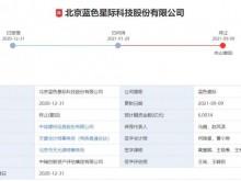 蓝色星际终止IPO申请 实控人肖刚曾被出具警示函 隋田力旗下公司魅影闪现