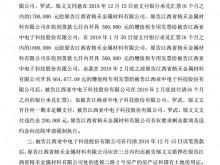亚中电子未按时付货款被起诉 实控人罗武违规借款337万元