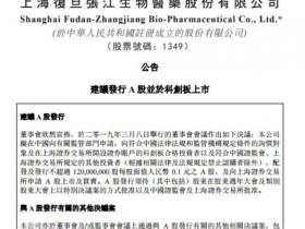 港股上市公司复旦张江披露公告 建议发行A股并于科创板上市